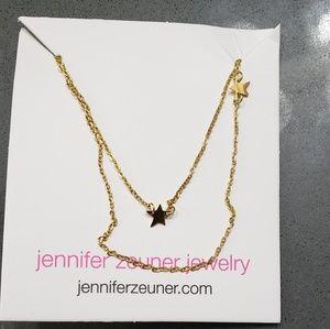 Double star necklace by Jennifer Zeuner
